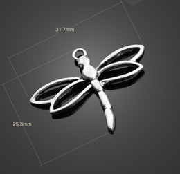 Wholesale Dragonfly Charms Jewelry - 13085 vintga Tibean silver dragonfly charms Necklace earrings Pendants DIY alloy Charms Jewelry Findings & Components