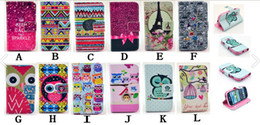 Wholesale Free Galaxy S3 Cases - Wallet Leather Case For Samsung Galaxy S3 mini i8190 Owl Flower Tribal Eiffel Tower Keep Calm Credit Card With Stand Free Shipping