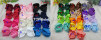 Wholesale Big Bow Hair Ribbon - 32pcs lot,6 inch big ribbon bows,Girls' hair accessories hair bow without clip, hot selling bows for girl. free shipping