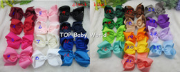 Wholesale Hot Big Girls - 32pcs lot,6 inch big ribbon bows,Girls' hair accessories hair bow without clip, hot selling bows for girl. free shipping