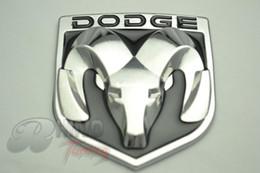 Wholesale Sticker Side - Wholesale-Black DODGE RAM PICKUP SUV TRUNK METAL EMBLEM LAPEL PIN Car Hood Side Wing BADGE Sticker 19148
