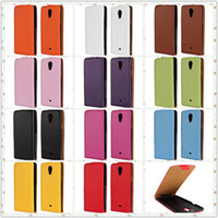 Wholesale Cover Case Xperia T - Hot Sales Colorful Genuine Leather Vertical Flip Cover Case for Sony Xperia T LT30P LT30i with Magnetic Closure 11Colors Choose