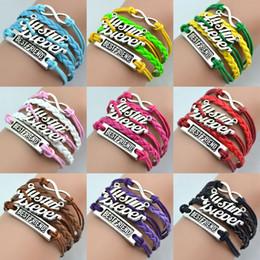 Wholesale Justin Bieber Charms - Cheap Retro Bangles Weave Leather Bracelets Charms Justin Bieber Women Bracelets Fashion Bracelets Handmade Jewellry Mix Design Color