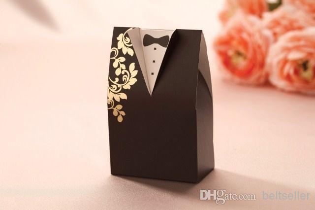 Wedding Favours Boxes Candy Gift box bride and groom dress candy boxes Wedding supply =