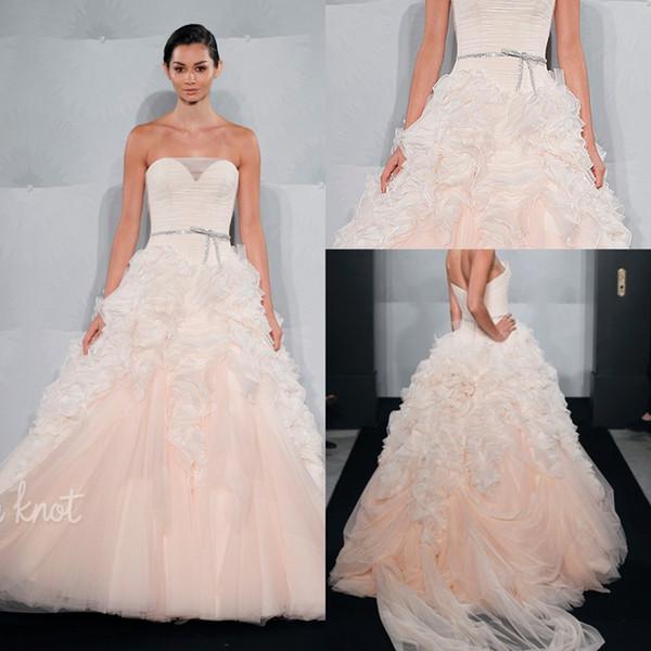 Mark Zunino Blush Wedding Dress