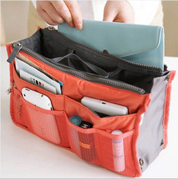 Wholesale Large Cosmetic Organizers Inserts - Lady Loves Necessary Women Travel Insert Handbag Purse Large liner Cosmetic bags Organizer Bag Storage Bags Amazing 10 Color Free DHL