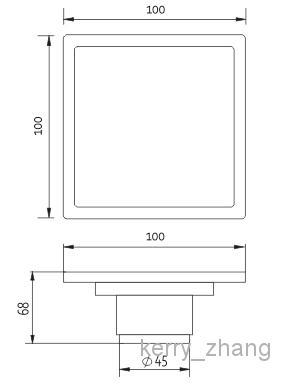 accessori il bagno deodorizzazione scarico a pavimento Ottone antico / nichel spazzolato / Doccia Scarico Rifiuti sanitari da bagno fiore arte