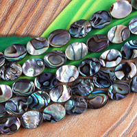 Venda por atacado 120pcs A granel a granel Abalone Shell ellipse Formas Loose Beads Jewelry Making 8x10 mm