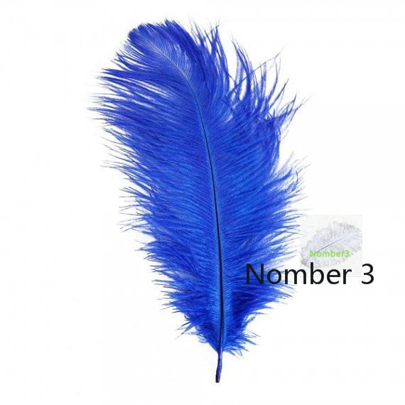Commercio all'ingrosso 100 pz Royal Blue piuma di struzzo centrotavola centrotavola centrotavola decorazione di cerimonia nuziale decor di piume