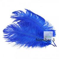 ingrosso piume di struzzo blu royal-Commercio all'ingrosso 100 pz Royal Blue piuma di struzzo per centrotavola centrotavola centrotavola decorazione di cerimonia nuziale decor di piume