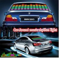 Wholesale El Car Stickers - Led Car Stickers Sound Music Activated EL Car Stickers Equalizer Glow Flash Led Car Decals 90cm x 25cm 90cm x 10cm Car Music Rhythm Light