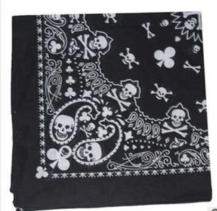 Fashion paisley skull head scarf wrap 100% cotton bandana wristband,12pcs/lot free shipping