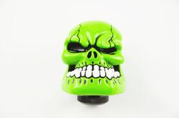 Perilla de cambio de marchas Personalizado Estilo de cráneo del palillo Palanca de cambios Palanca de cambio de marchas Perilla Universal verde en venta