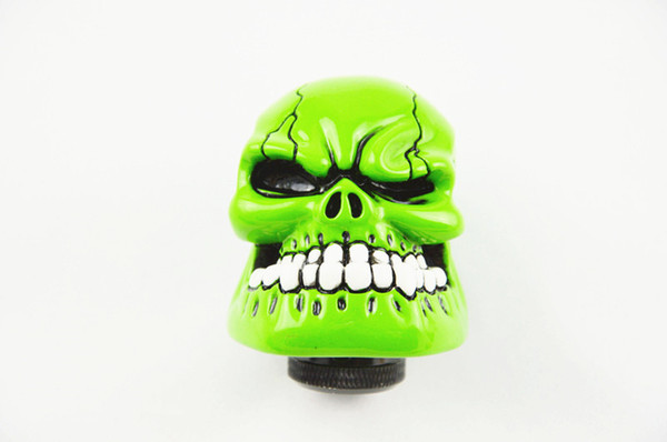 best selling Gear Shift Knob Custom Bone Skull Style Stick Shift Gear Lever Shifter Knob Car Universal Green