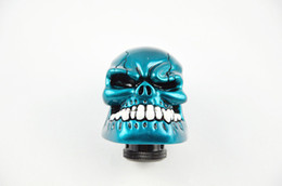 Levers Universal Canada - Universal Shift Knob Manual Gear stick Shift Shifter Lever Knob Wicked Carved Skull refit Decoration Blue Gear Stick
