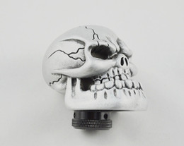 Skull Lever NZ - Universal Silver Manual Gear Stick Shift Shifter Lever Knob Wicked Carved Skull Mask new