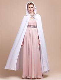 Wholesale Extra Long Sleeveless - Extra Long Sleeveless Double Layers Chiffon Wedding Evening Hood Poncho (More Colors) DH7316