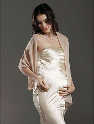 best selling Chiffon Wedding  Party  Evening Shawl More Colors Available DH7324
