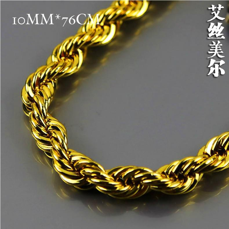 2018 high quality bijouterie 100 24k gold plated 76cm longtwisted see larger image sciox Gallery