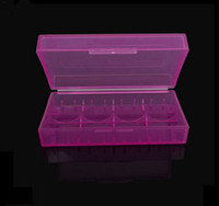 Wholesale E Cig Battery Holders - In stock Plastic Battery Case Box Safety Holder Storage Container Colorful pack batteries for 2*18650 or 4*18350 li-ion battery e-cig DHL