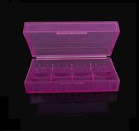 iyon stokları toptan satış-Stokta Plastik Pil Kutusu Kutusu Emniyet Tutucu Saklama Kabı Renkli paketi piller için 2 * 18650 veya 4 * 18350 li-ion pil e-c ...