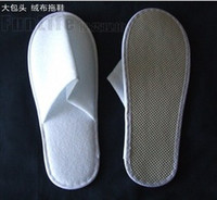Wholesale one time slippers hotel - 50pairs one-time slippers disposable shoe home white sandals hotel babouche travel free shipping