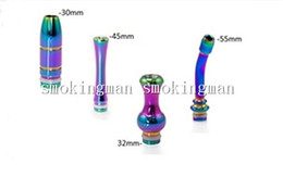 Wholesale Rainbow Acrylic - Beautiful Rainbow Drip Tip Stainless Steel 510 Long drip tip Bullet drip tips Gourd Mouthpiece Ego 510 aluminum acrylic GLASS E Cigarette