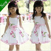 Wholesale One Piece Tutu Skirt - NC11 HOT new 2016 fashion girl Europe Style High-quality Sleeveless princess flower one-piece dress skirts clothing 3-8year