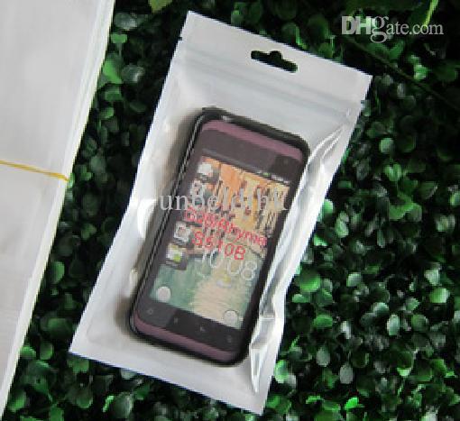 10 * 18 cm Branco / Limpar Auto Seal Zipper Embalagem De Varejo De Plástico Saco Poli Zip Lock Bagl Pacote Pendurar Buraco Para iPhone 4S 5S 6 S Samsung
