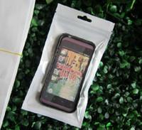 прозрачная пластиковая подвесная упаковка оптовых-10 * 18 см Белый / Ясный Самоуплотнение Молния Пластиковая Розничная Упаковка Поли Мешок Zip Lock Bagl Пакет Повесить Отверстие Для iPhone 4S 5S 6S Samsung