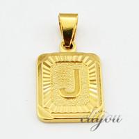 ingrosso collane originali di gioielli-Nuova moda A-Z 26 lettere iniziali ciondolo collana per donna uomo oro rosa argento amicizia amore lettera catena gioielli regalo GPM05