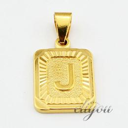 Nuova moda A-Z 26 lettere iniziali ciondolo collana per donna uomo oro rosa argento amicizia amore lettera catena gioielli regalo GPM05 in Offerta