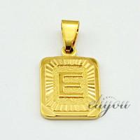 18k altın dolu göz takı toptan satış-Yeni Moda Takı Mens Womens Kare Kolye w