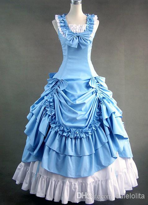 Free Shipping Wholesale Sky Blue Sleeveless Victorian Prom Dress,Sexy Queen Costumes,Women Party Dress 2016