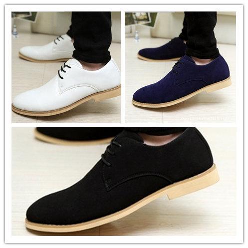 Compre El Comercio Mayorista Y Minorista Envío Libre De Los Hombres Zapatos De Vestir De Gamuza De Cuero Genuino De Oxford, California Casual Zapatos