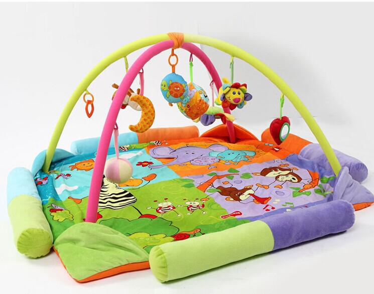 2019 120 120 Cm Big Size Colorful Twins Baby Play Mat Game