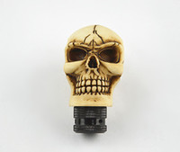 Wholesale Skull Shift Knobs Manual - Shift Knob Universal Manual Car Gear stick Shift Shifter Lever Knob Wicked Carved Skull New Decoration