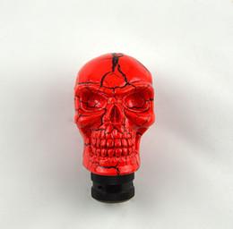 Manopole del cambio del cranio online-NOVITÀ Car Auto Universal Human Skull Stick Shift Gear Shifter Manopola Silver PINK Knob Wicked