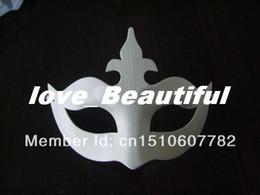 $enCountryForm.capitalKeyWord NZ - 2016 hot selling plain white half-face DIY Crown masks Blank paper match masks 100pcs lot
