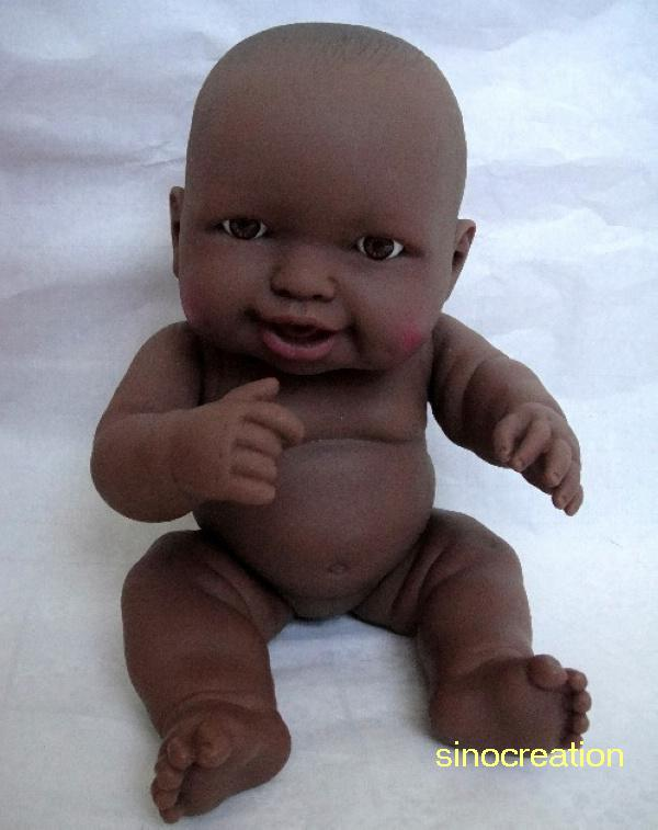 nordest Nord America Contadino  Lovely Black Silicone Reborn Baby Doll, Pretend Play Dolls For ...
