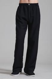 Livraison Gratuite 2015 nouveaux Arts Martiaux Chinois Style Vêtements Noir Long Pantalon KungFu pantalon kung fu Costume taiji vêtements pantalons 2352-1_2