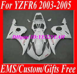 Kit de carrosseries pour YAMAHA YZFR6 2003 2004 2005 YZF R6 Carrosserie YZF600 R6 03 04 05 blanc Ensemble carénage + 7