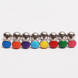 Wholesale Cheap Ear Body Jewelry - Wholesale - 24pcs lot earring nail, body piercing jewelry mixed color fake ear piercing plug cheap