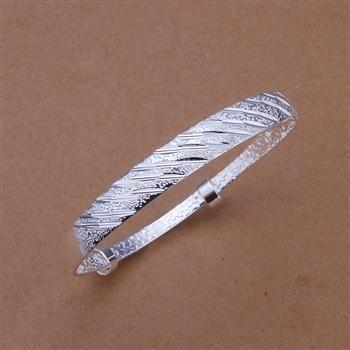 Karışık 50 stil 925 gümüş bilezik çok tarzı bilezik charm bilezikler açılış sert vücut 50 adet / grup