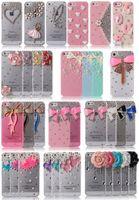 Wholesale Case For Iphone4 Luxury - Luxury Flower Handmade DIY Crystal Diamond Rhinestone Hard Cover Case For iPhone 5 5s iPhone4 4s iPhone6 6 Plus