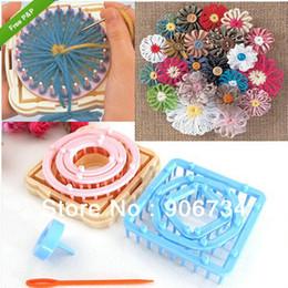 9PCS Parts Flower Knitting Loom Knit Daisy Pattern Maker lana filato ago Home Craft da vasi di ceramica gialli fornitori