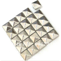 Commerci all'ingrosso 500pcs / bag 10 millimetri di cuoio appuntiti punk Stud Argento Metal Craft Borchie Rivetti