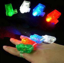 Wholesale Dazzling Laser Beams - Led finger light dazzling Laser Fingers Beams Party Flash Toys LED Lights Toys 2000 pcs lot