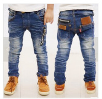 Wholesale Korean Boys Jeans Style - Spring 2014 new children's clothing boys wild baby jeans children trousers new Korean version