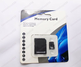 Discount tf flash memory - DHL 2018 freeshipping 128GB Class 10 Micro SD TF Memory Card with SD mini GIFT Adapter Retail Package Flash SD Cards